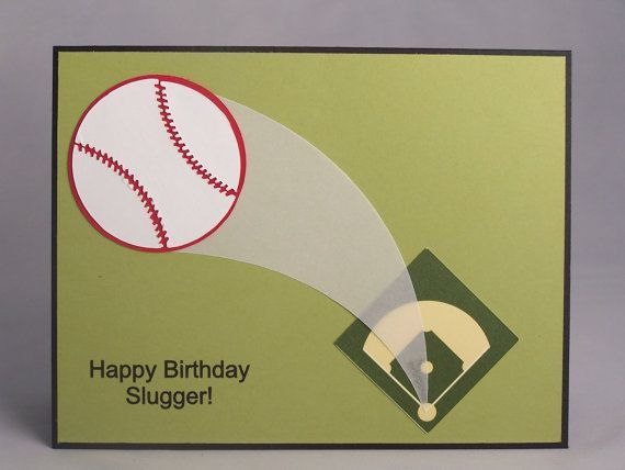Handmade Th Birthday Cards Son ~ Stampin up handmade greeting card baseball birthday card son