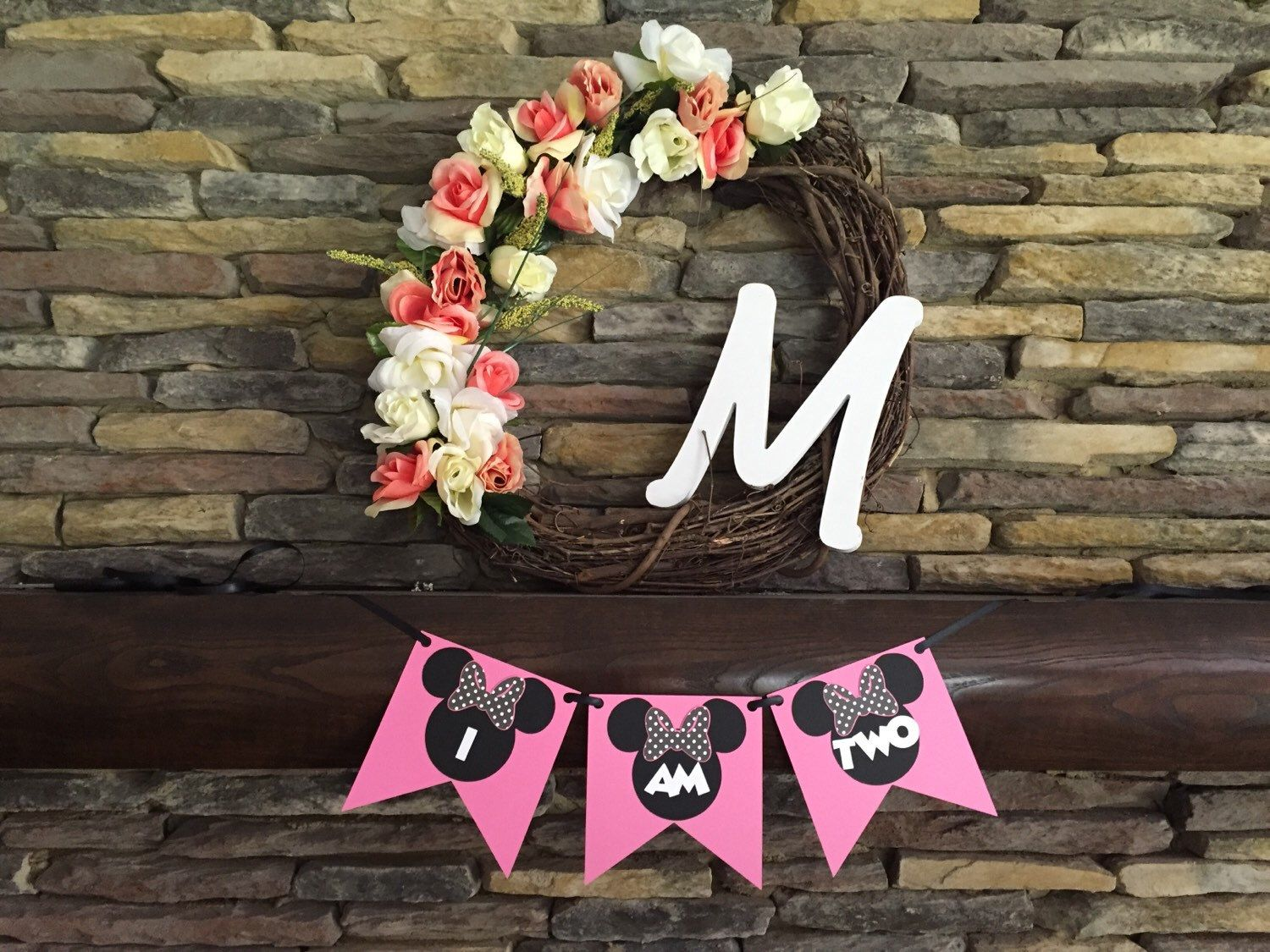 Minnie Mouse One Two Three Four Banner Happy Birthday Minnie Banner Minnie Mouse Decor Mickey Mouse Disney Birthday Party by PaperMadeParty on Etsy https://www.etsy.com/listing/398285017/minnie-mouse-one-two-three-four-banner