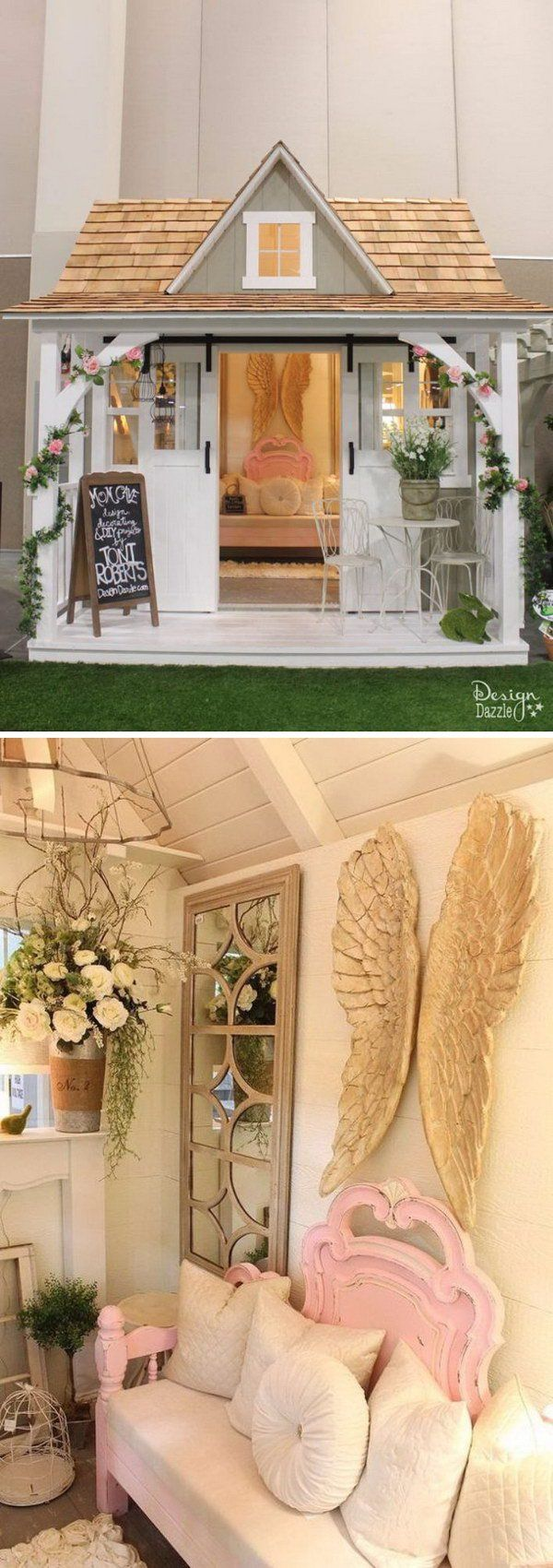 Shabby chic she shed shop makeover pinterest - Gartenhaus shabby chic ...