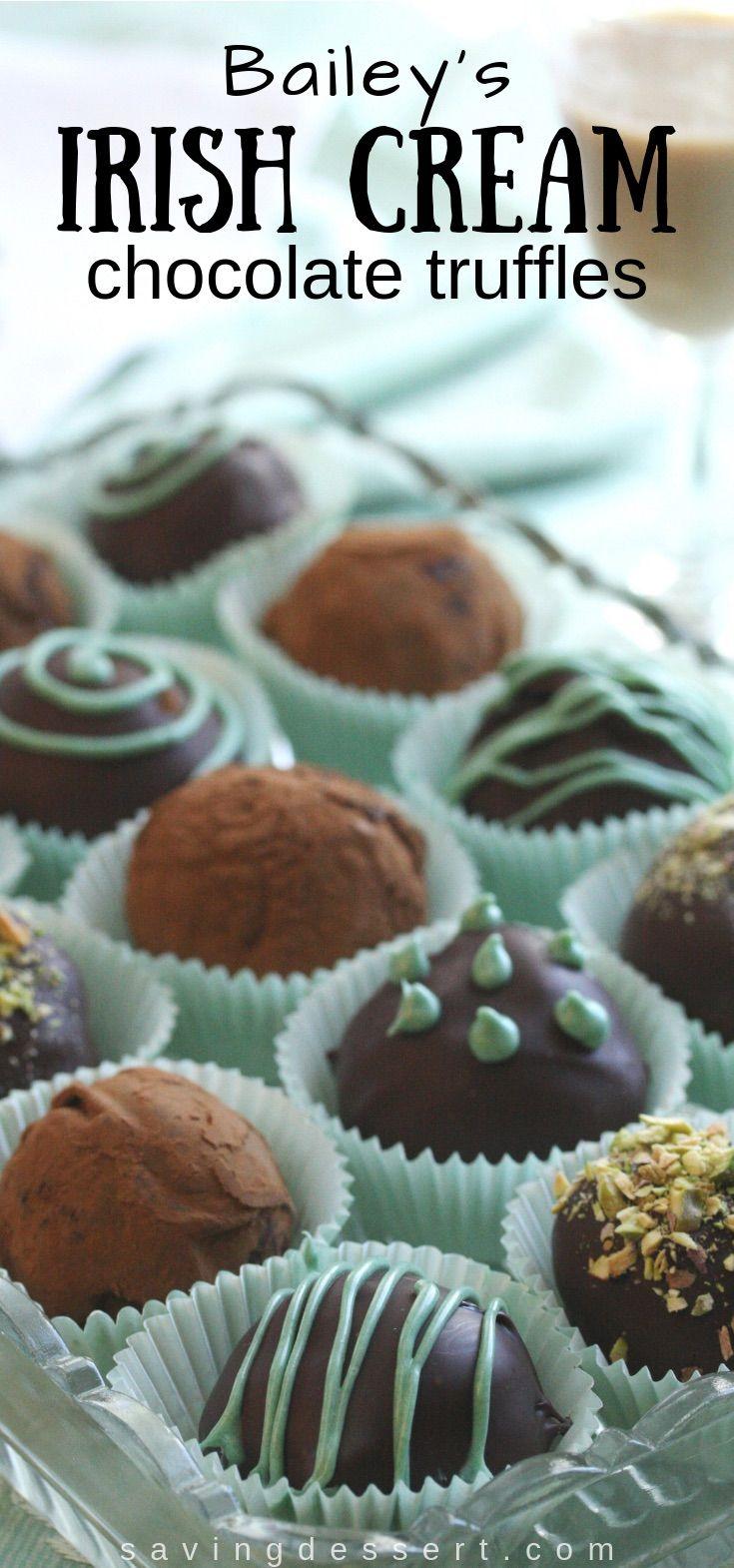 Baileys Irish Cream Chocolate Truffles