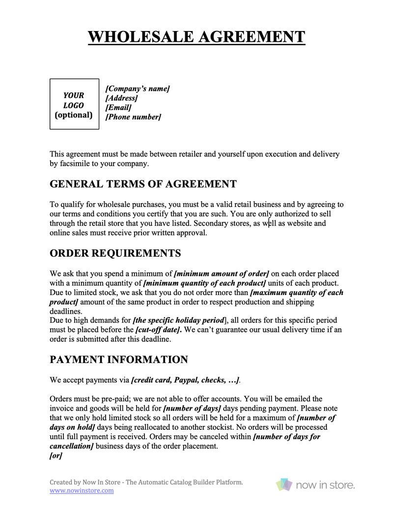 Wholesale Contract Template Create Your Own For Free Inside How To Make A Business Contract T Contract Template Rental Agreement Templates Contract Agreement