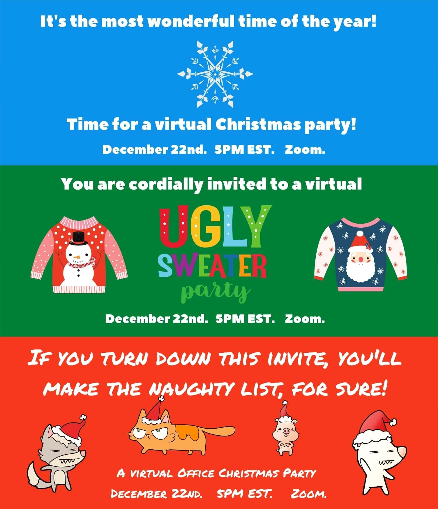 22 Virtual Christmas Party Ideas In 2020 Holidays In 2020 Holiday Party Activities Christmas Party Party