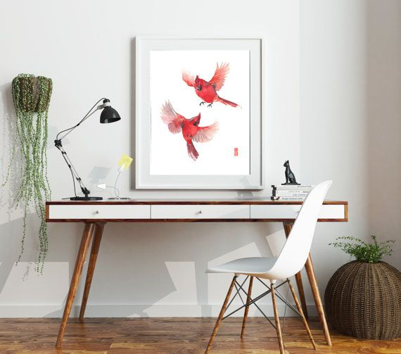 This item is a giclee fine art reproduction of an original watercolor painting by Jade Wu. The quality and texture of the print makes it virtually