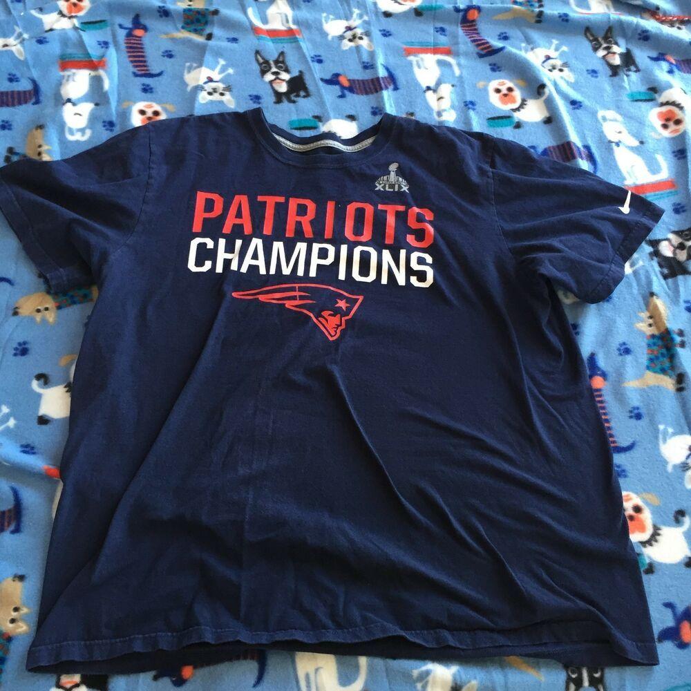 super bowl XLIX new england patriots champs shirt blue
