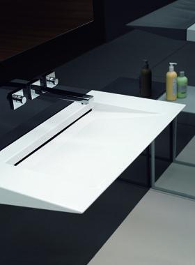 Lavabo de acero alape lavabos de metal metallic washbasin pinterest vidrio lavabo y acero - Lavabos de vidrio ...