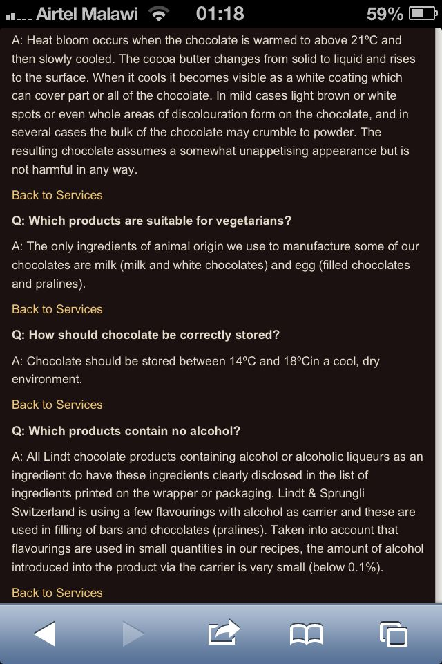 In my search to find out whether Lindt Chocolates are halaal or haraam I cam across this on their website. Now you decide
