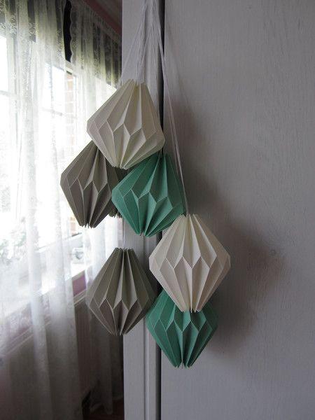 Origami Deko plissee anhänger origami deko papieranhänger 6 set origami paper