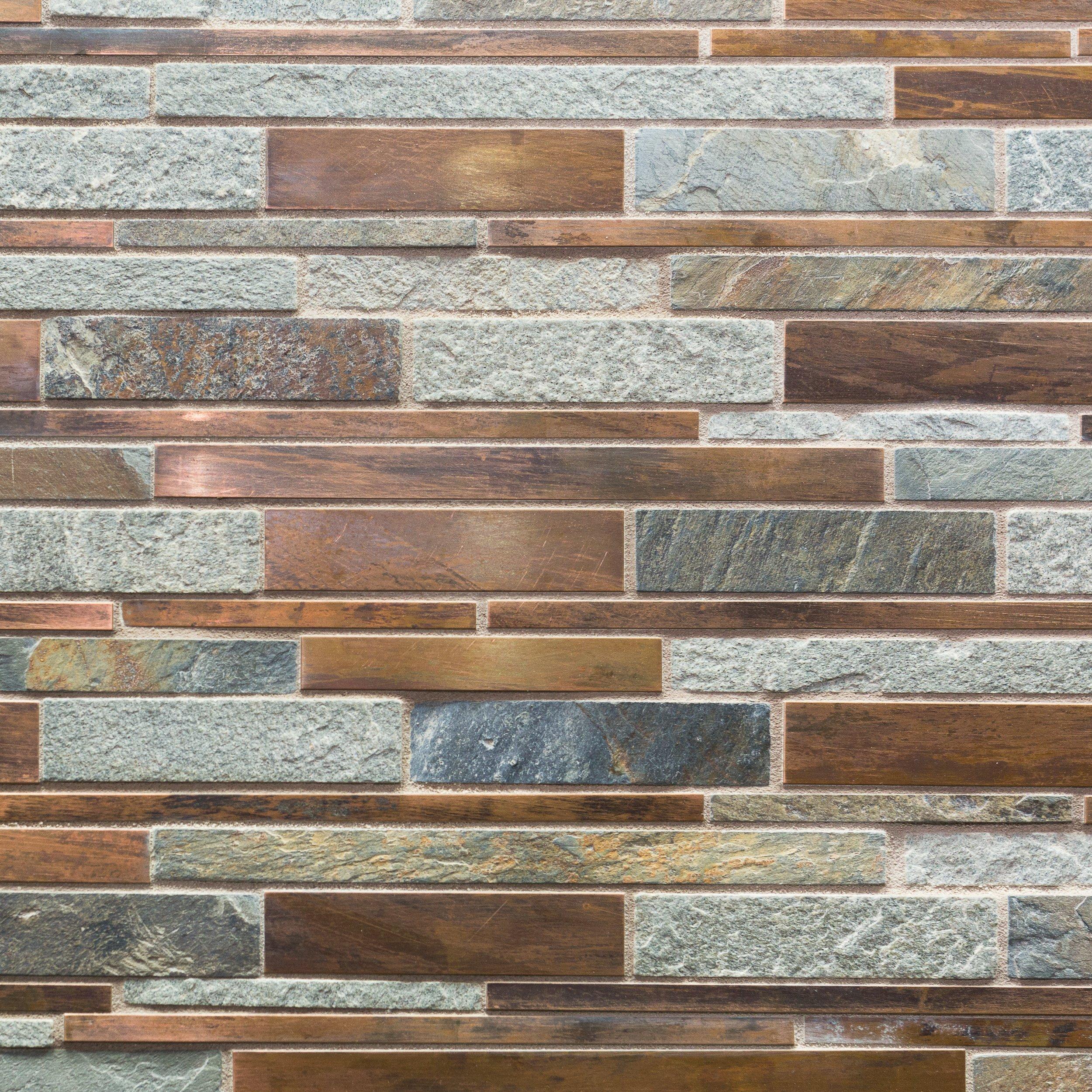 Copper Canyon Metallic Mosaic Floor Decor Copper Mosaic Backsplash Copper Tile Backsplash Copper Backsplash