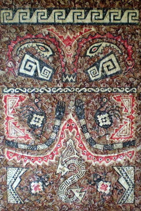SANTAMARIANA - AYAWASI  Cultura Santa María ( año 1000 a 1480 DC )  Diseño de Pintura Rupestre