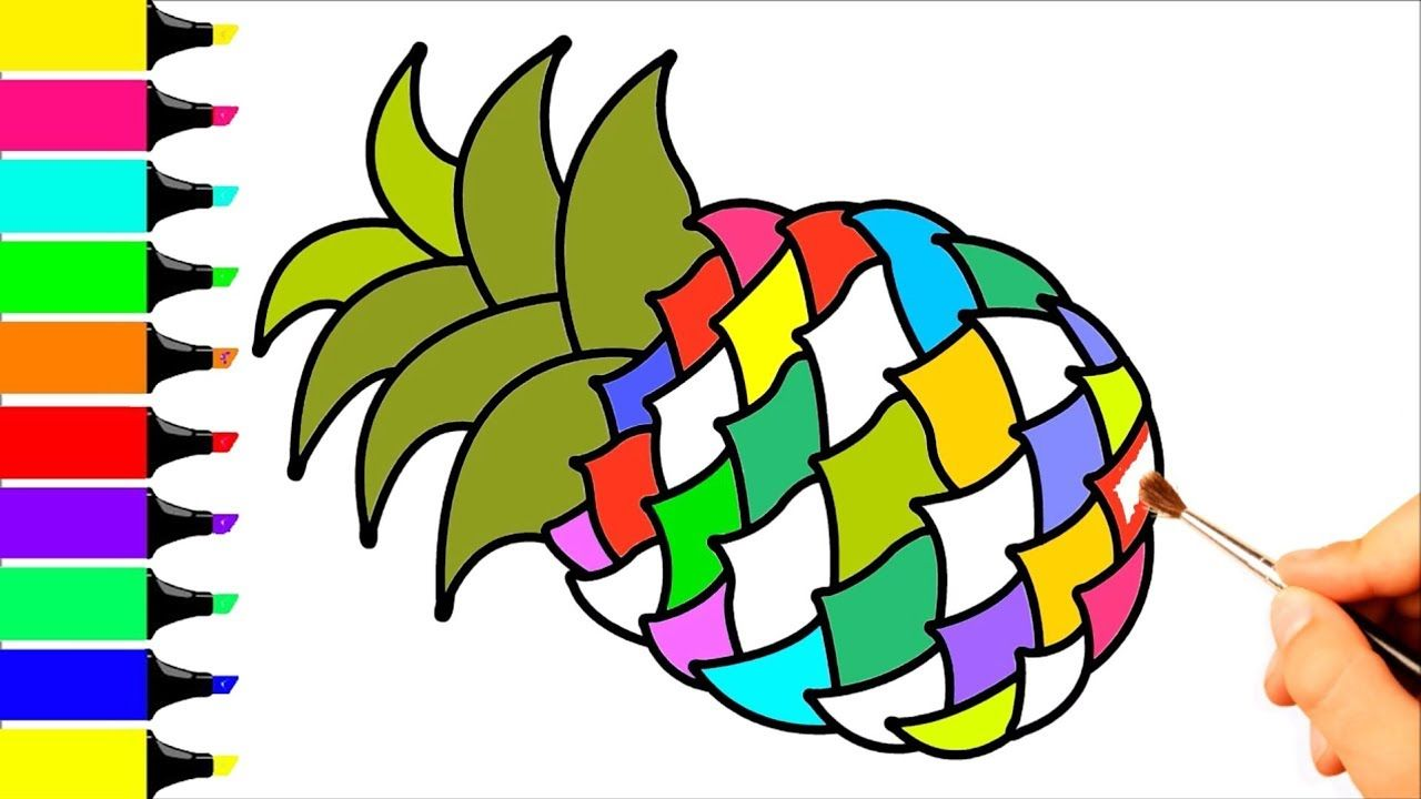 Pineapple Coloring Page Drawing For Kids - Coloring Pages For Baby ...