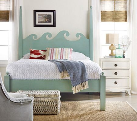 Beach house furniture and coastal decor for the home for Beach house headboard ideas