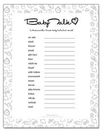 Baby Shower Games Baby Shower Printables Baby Shower