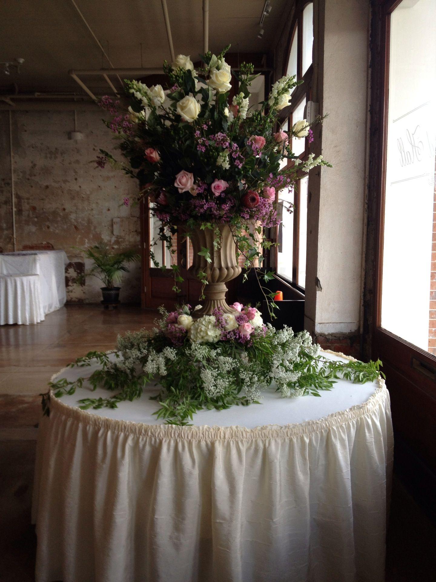 Wedding Urn Large Flower Arrangements Pinterest