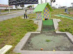 how to build a putt putt course