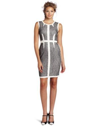 63% Polyester/33% Rayon/4% Spandex  Dry Clean Only  Classic sheath silhouette  Fitted throughout