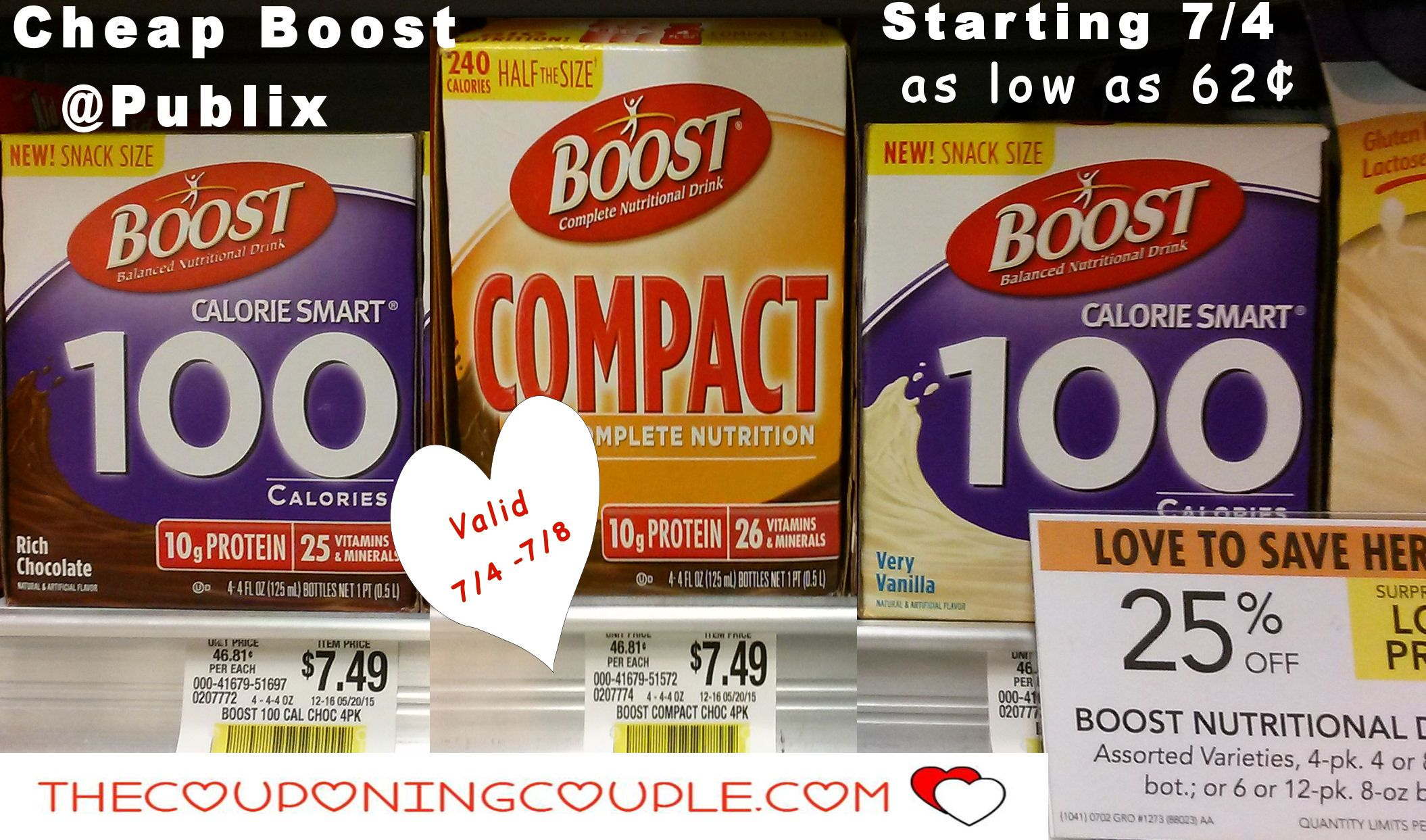 Cheap Boost Publix Calorie Smart Or Compact 0 62 Each Publix Calorie Boost Drink