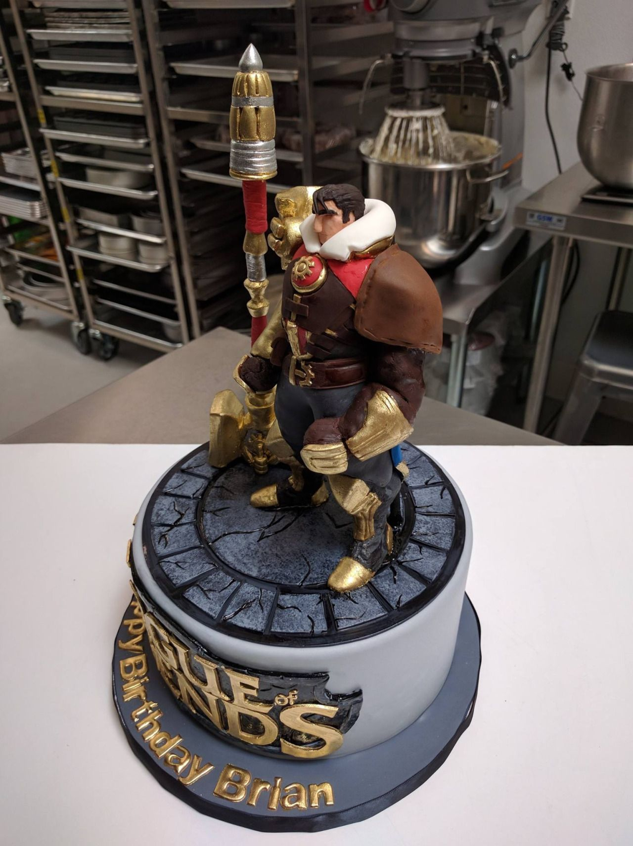 Some Work In Progress Photos Of The League Of Legends Cake