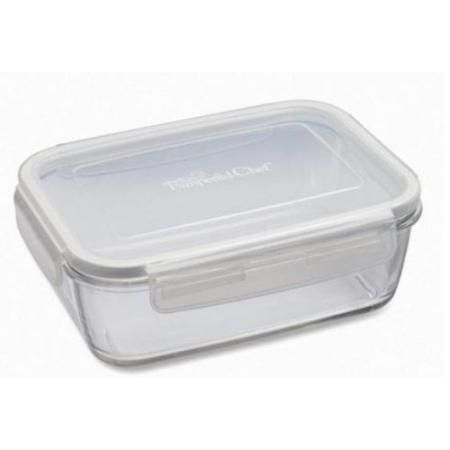 Pampered Chef 5 1 4 Cup Rectangle Leakproof Glass Container With Lid Pampered Chef Glass Containers Glass Food Storage Containers