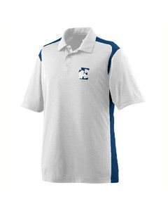 Augusta Wicking Textured Gameday Sport Shirt 5055 WHITE/NAVY