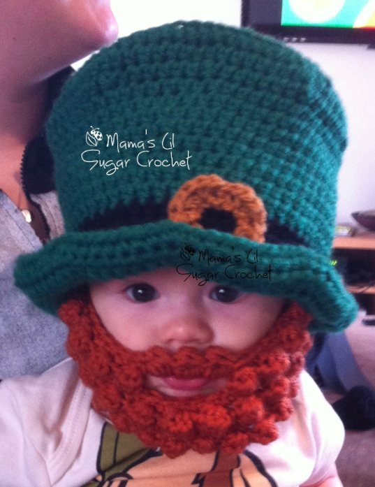 St. Patrick s Day Baby Gift  Irish Leprechaun Hat by Mama s Lil  Sugar  Crochet   Etsy -- beard sold separately dafad5a9247a