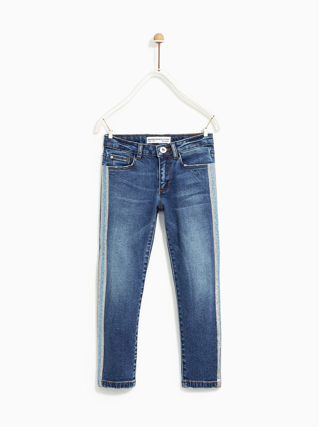 a7741a996c Image 1 of JEANS WITH SHINY SIDE TAPING from Zara | iona | Jeans ...