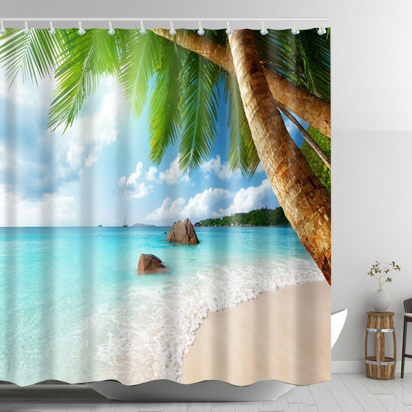 Beach Scene Shower Curtain Beach Decor Ideas For Bathroom Home