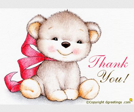 Send this cute teddy to someone you want to thank from the ...