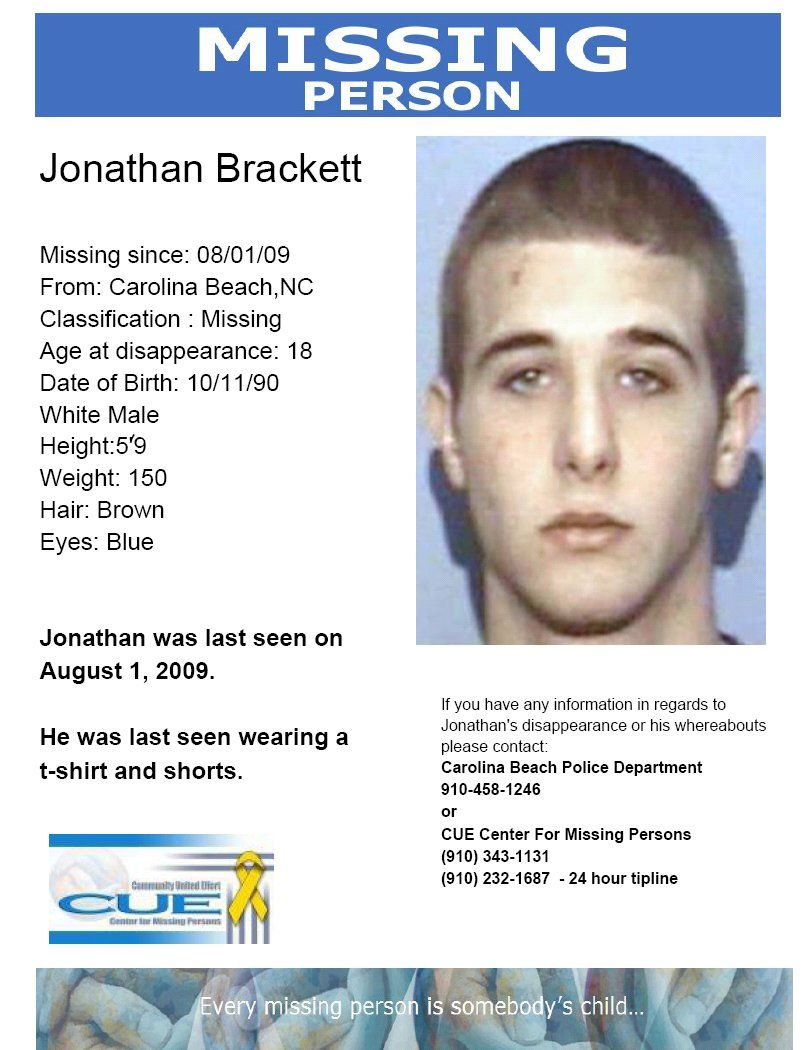 How To Find Someone That Is Missing | 10/6/09  Carolina Beach  Missing People Posters