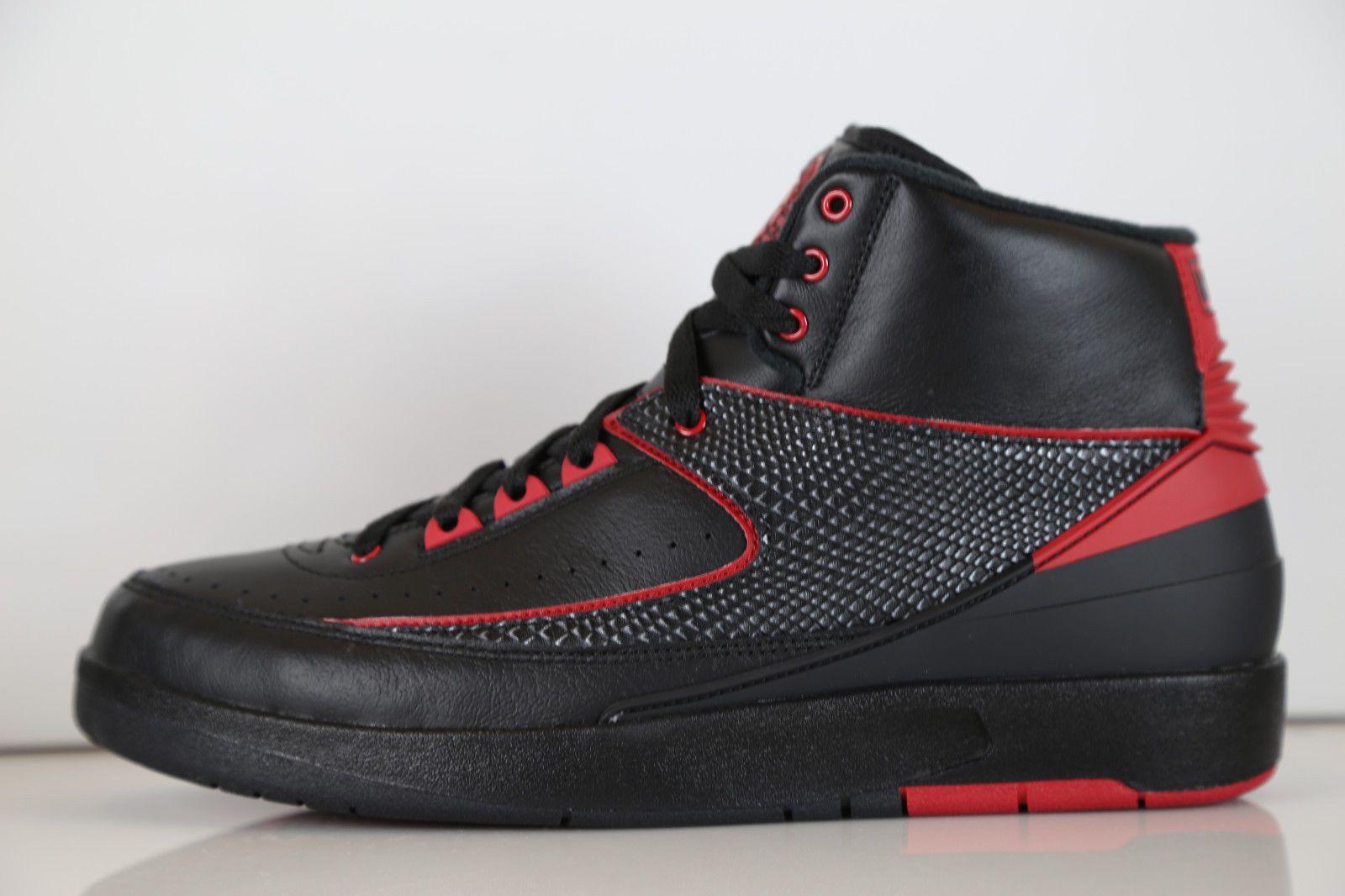 3db4fd8ff28bb0 Nike Air Jordan Retro 2 Alternate 87 Black Red 834274-001 7-14 1 bred 11 3  8 9