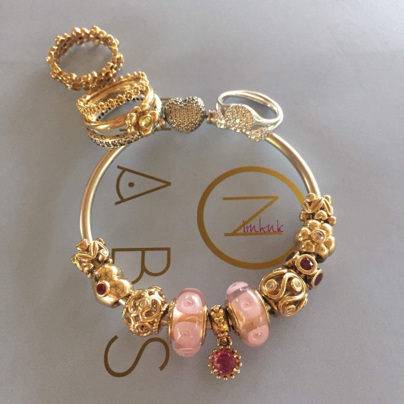 pandora gold bracelet