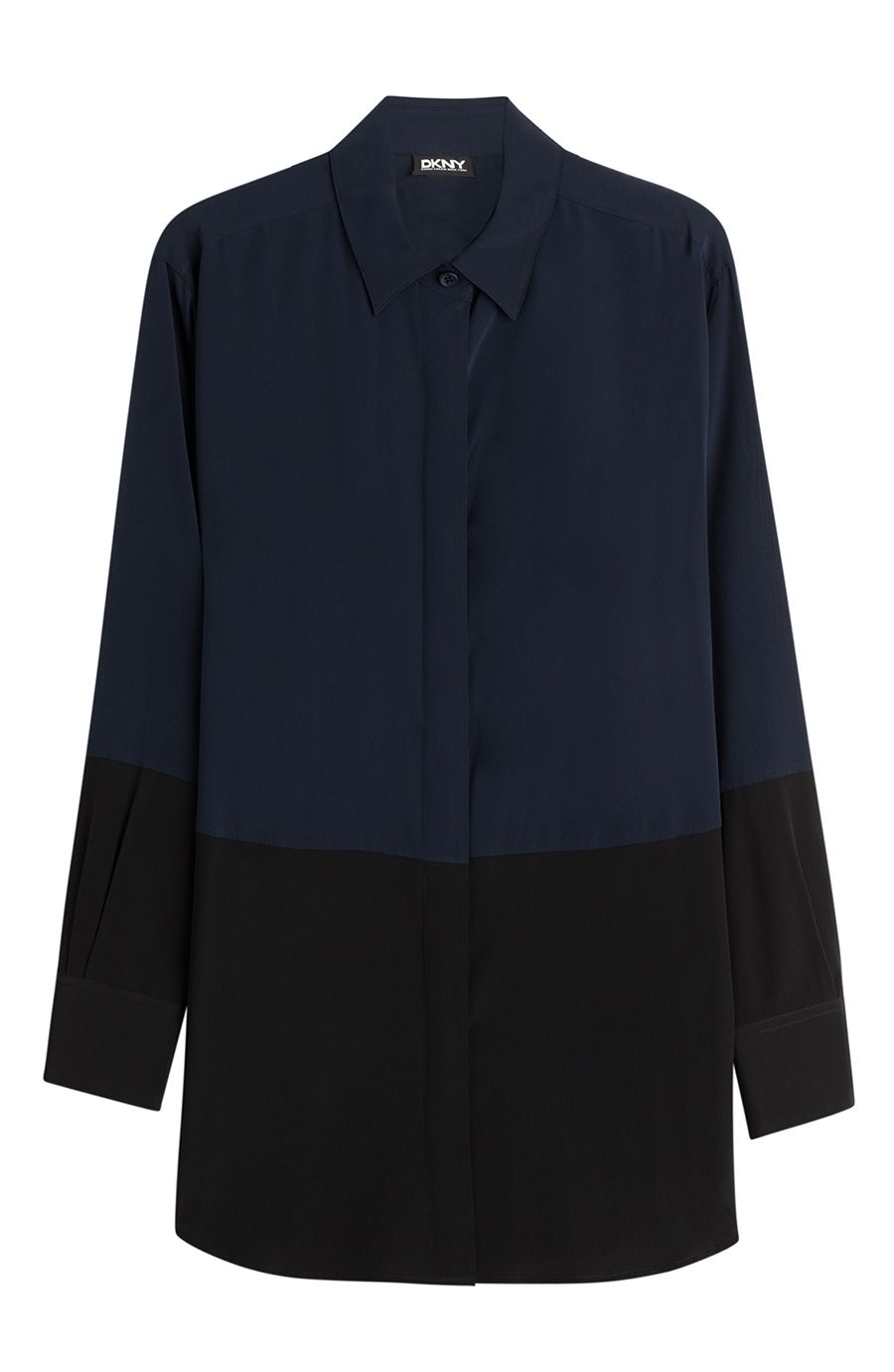 DKNY Oversize Silk Shirt. #dkny #cloth #tops