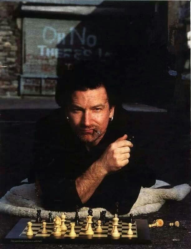 Bono Playing Chess Chessbaron Co Uk Ships Internationally Bono Bono U2 Best Rock Bands