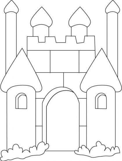 Kleurplaten Kasteel En Ridders.Kleurplaat Kasteel Ridders Castle Coloring Page Colouring Pages