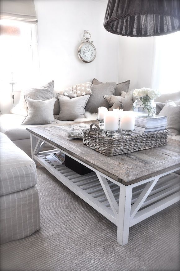 white living room tables. Adorable Cozy And Rustic Chic Living Room For Your Beautiful Home Decor  Ideas 117 Large candles in a wicker basket might be bit of fire hazard