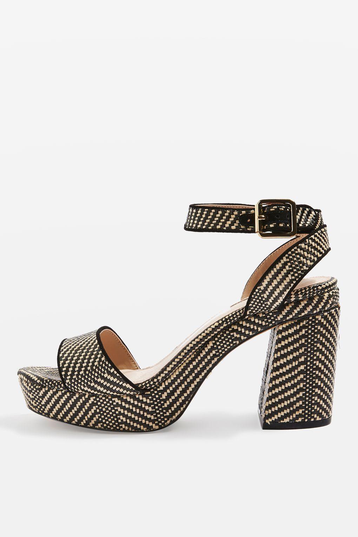 2e932bc85de8 LOVE Woven Platform Sandals