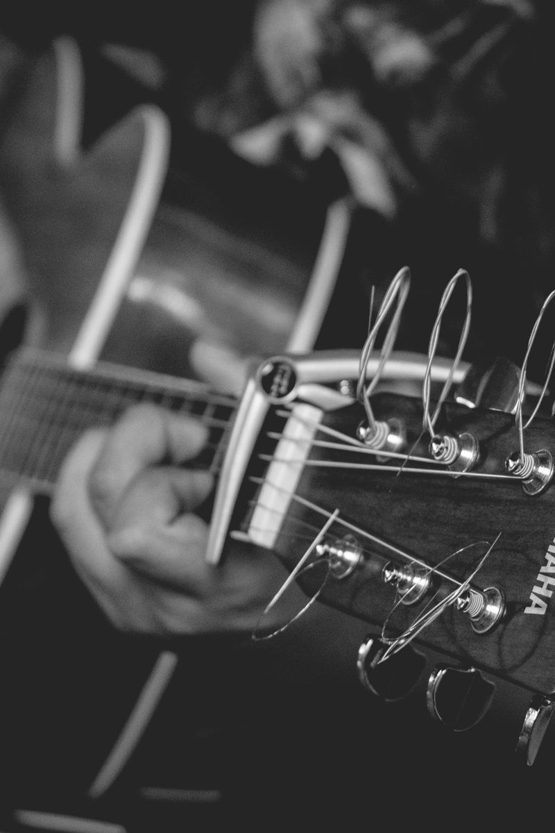 Submission by Harvey Salvador. More work by Harvey on Pexels at https://www.pexels.com/u/aaronsvd #black-and-white #music #musician