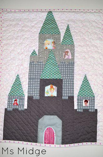 Paper Pieced Castle Quilt Patterns Paper Piecing Patterns