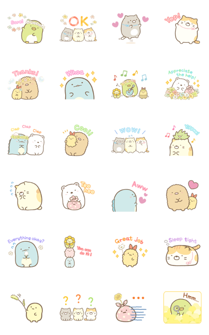Sumikko Gurashi Everyday Stickers Sticker For Line Whatsapp Android Iphone Ios Cute Stickers Cartoon Stickers Line Sticker