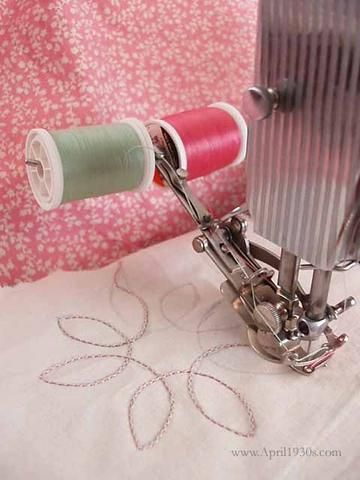 How To Use The Two Thread Embroidery Attachment Viking Sewing Machine Sewing Machine Accessories Sewing Machine Repair