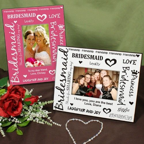 Personalized Bridesmaids Colorful Picture Frames Your Lovely Bridesmaids Are Standin Bridesmaid Picture Frame Gifts For Wedding Party Wedding Parties Pictures