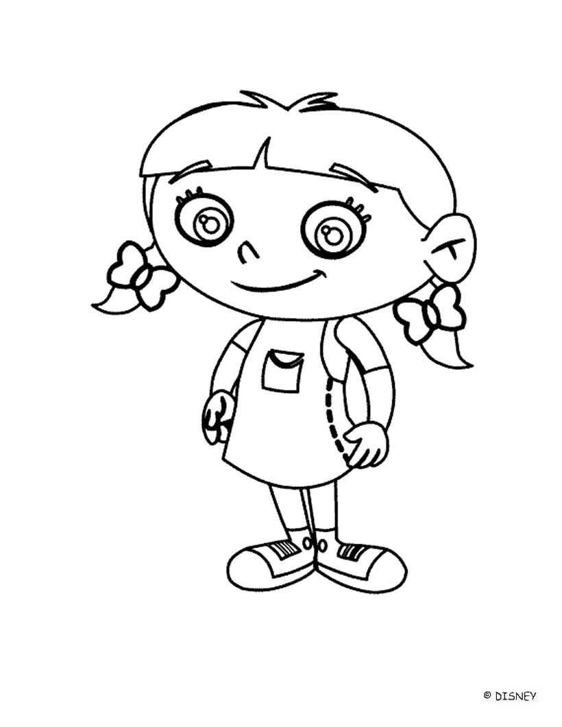 Discover This Amazing Coloring Page Of The Disney Movie Little Einsteins Here Smiling Annie Cartoon Coloring Pages Cool Coloring Pages Disney Coloring Pages