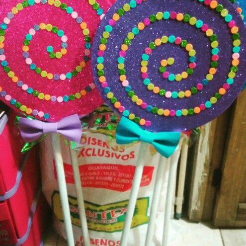 Paletas de dulce hechos en foami utileria para un show 1 - Como hacer un cono ...