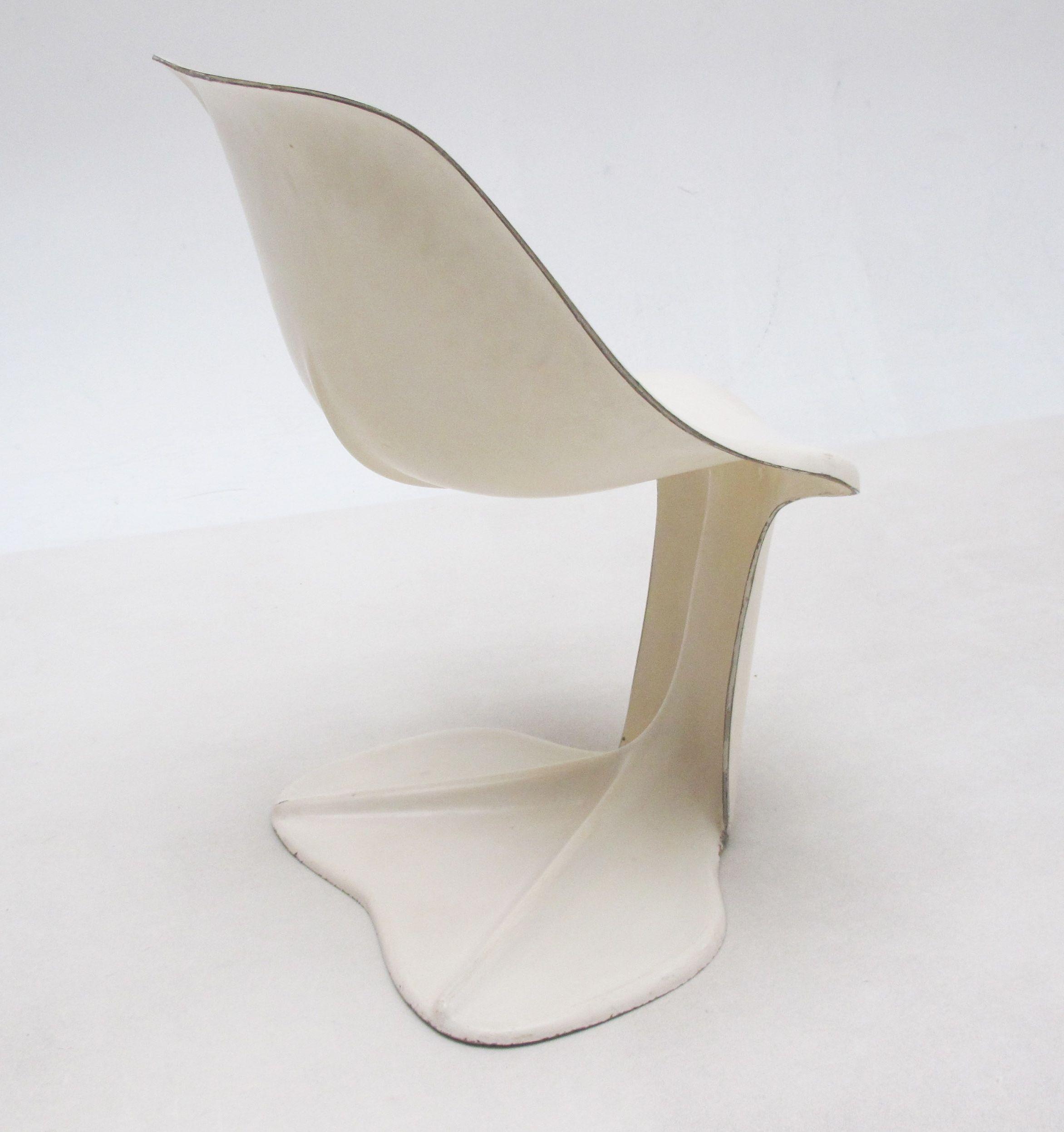 Jean Dudon Molded Fiberglass Chair 1970 Maison