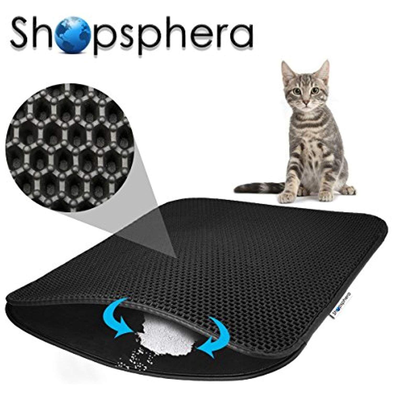 Large Cat Litter Mat for Litter Box, 30†x23†Kitty