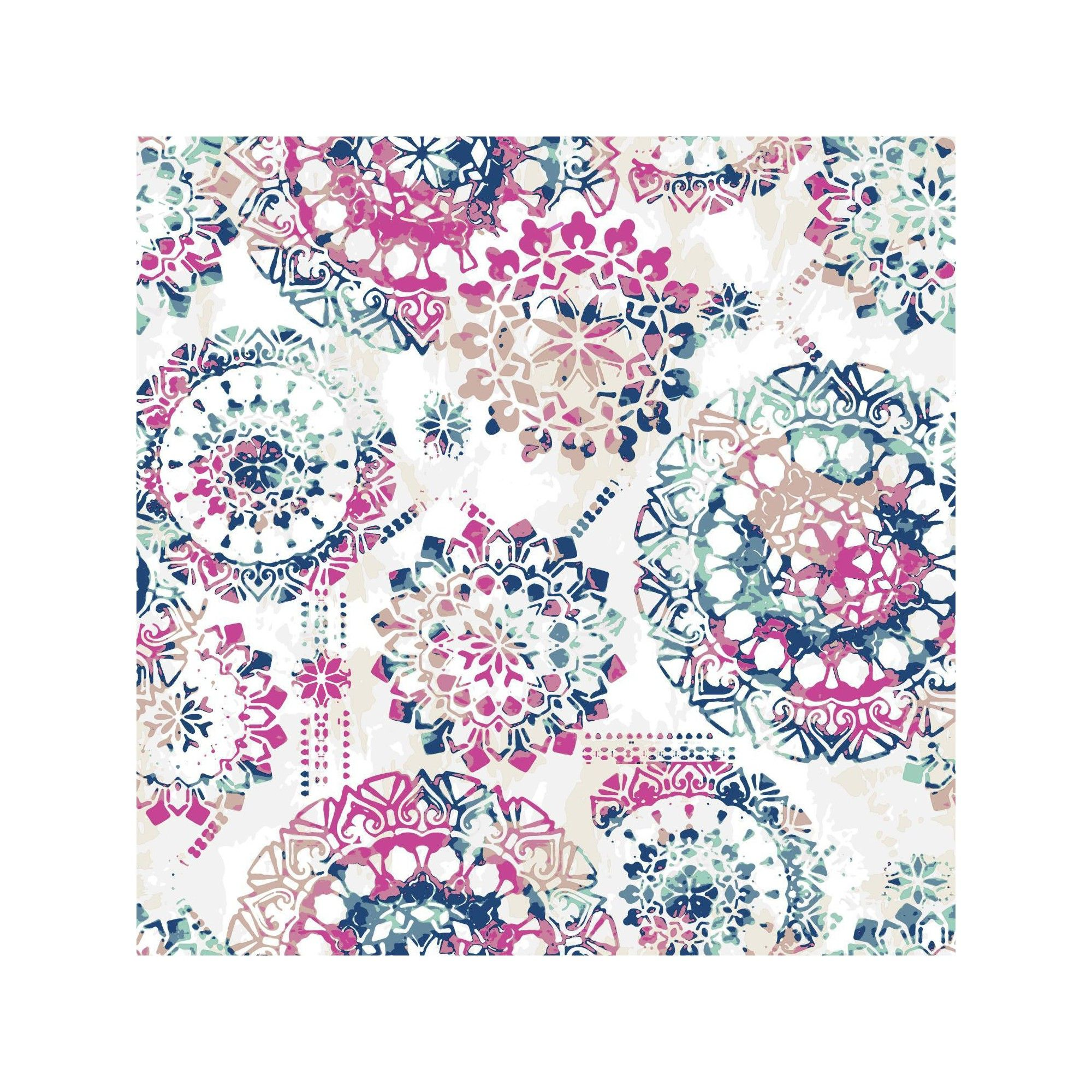 Bohemian Peel Stick Wallpaper Pink Blue Roommates Bohemian