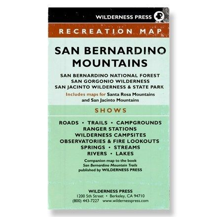 Wilderness Press San Bernardino Mountains Recreation Map - Sixth Edition