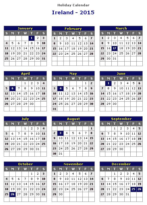 feriados irlandeses de 2015 calendar 2017 calendar template 2017 2015 calendar with holidays
