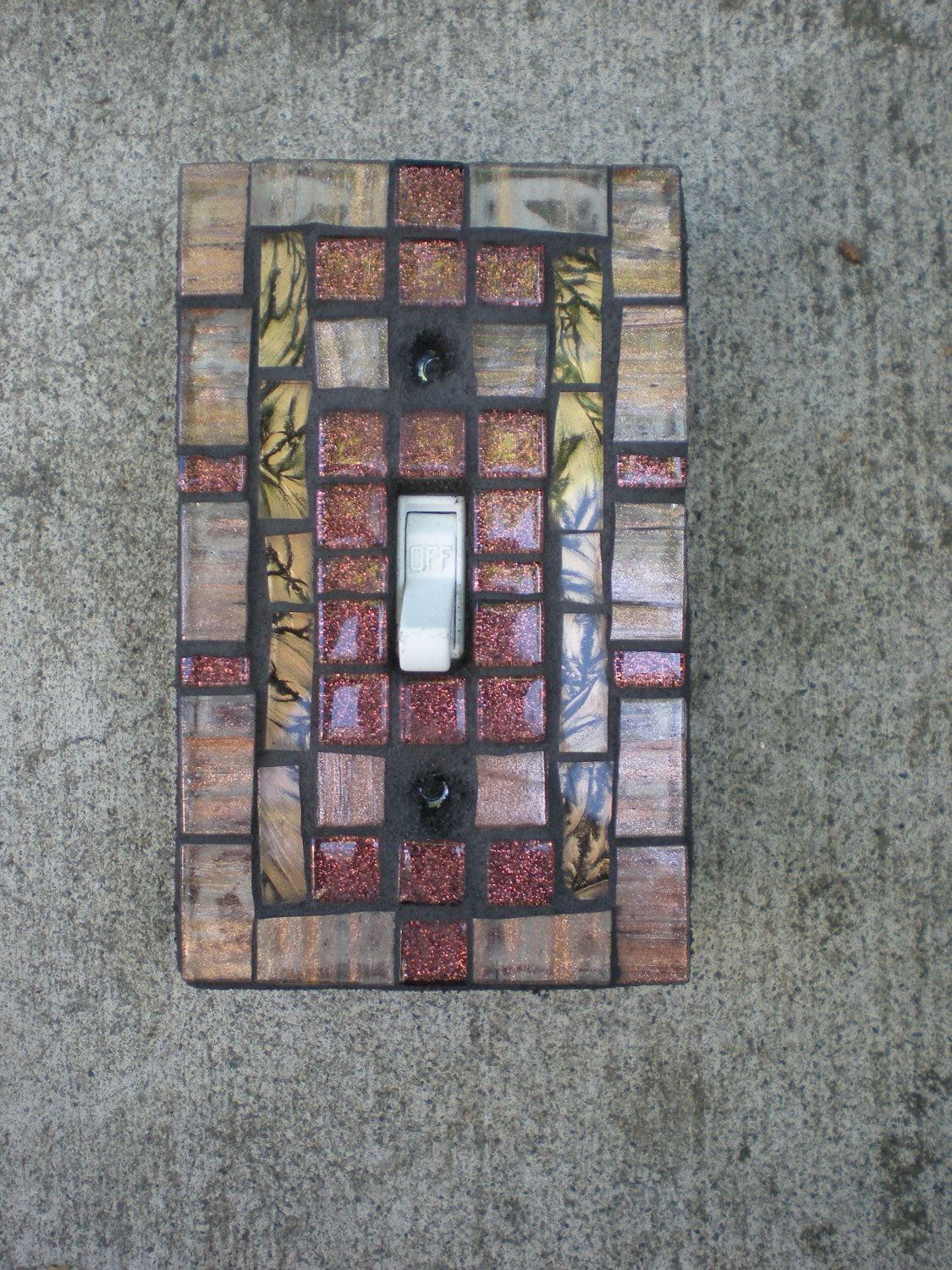 Copper Light Switch Plates Mosaic Light Switch Cover Copper Champagne And Bronze
