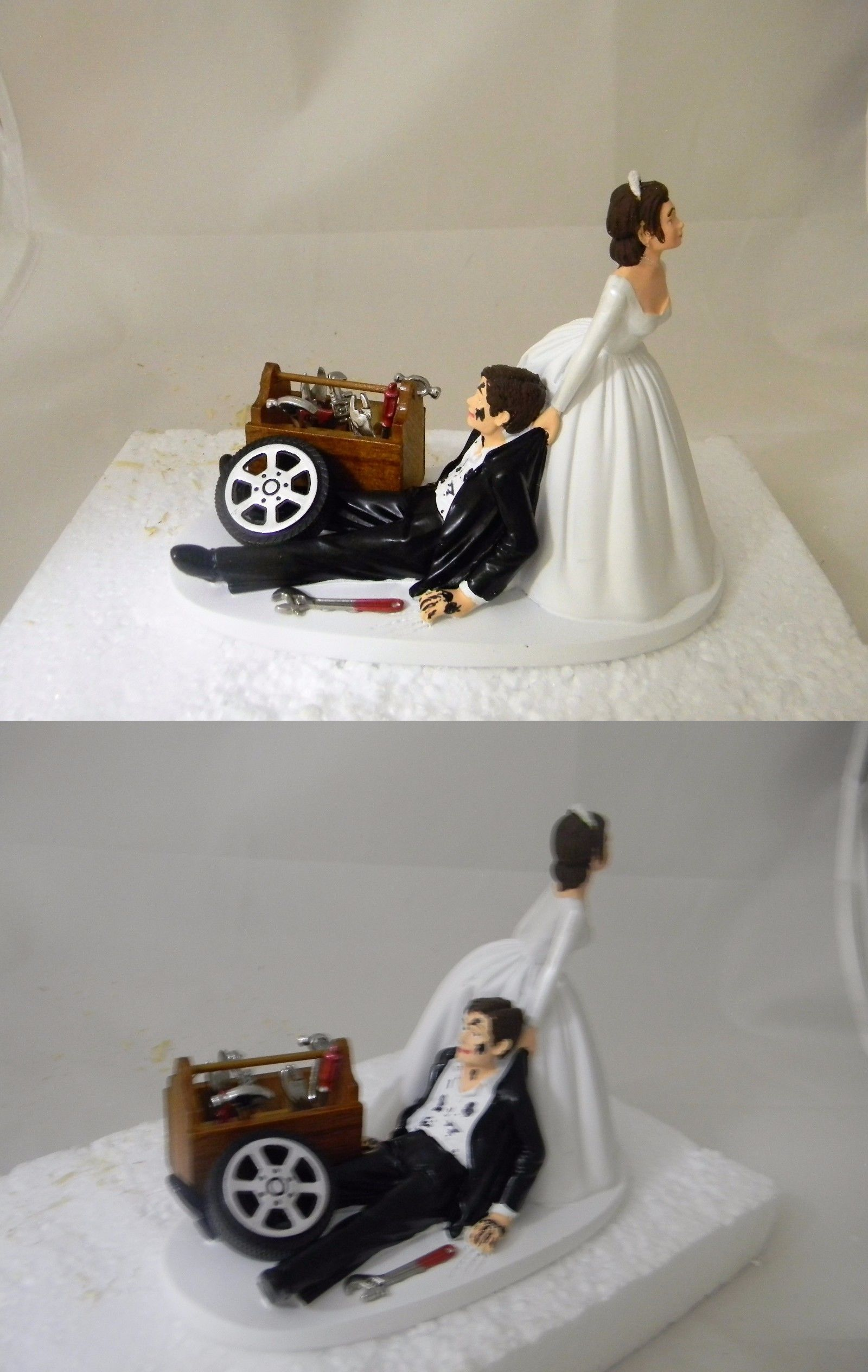Wedding Cakes Toppers Wedding Reception Race Car Truck Mechanic