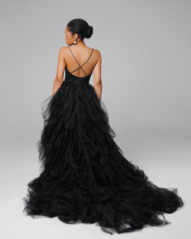 Black Bridal Dress Black Tulle Wedding Dress Princess Etsy In 2021 Black Bridal Dresses Black Tulle Wedding Dress Black Bridal [ 993 x 794 Pixel ]